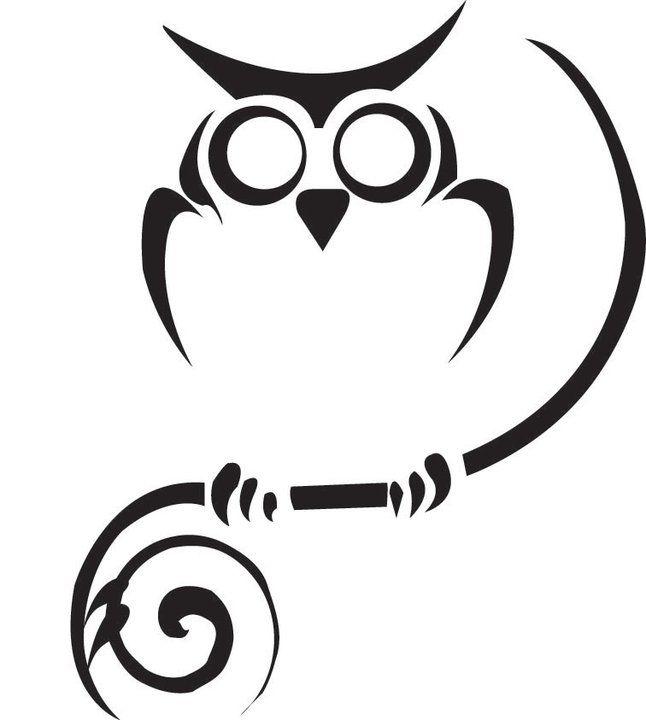 646x720 Best Tribal Owl Tattoos Ideas Owl Stencil