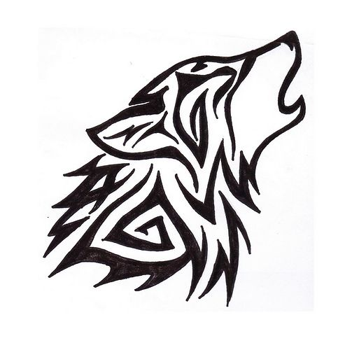 493x500 16 Best Simple Wolf Tattoos For Men Images Design