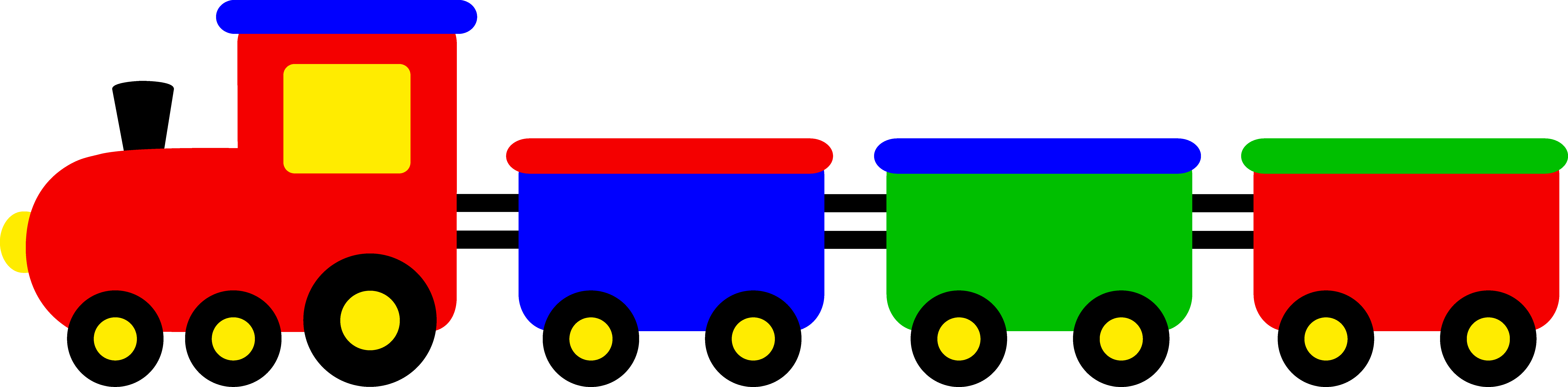 9782x2412 Simple Train Clip Art