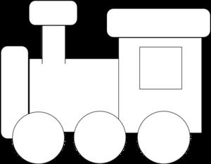 300x234 Simple Train Clipart