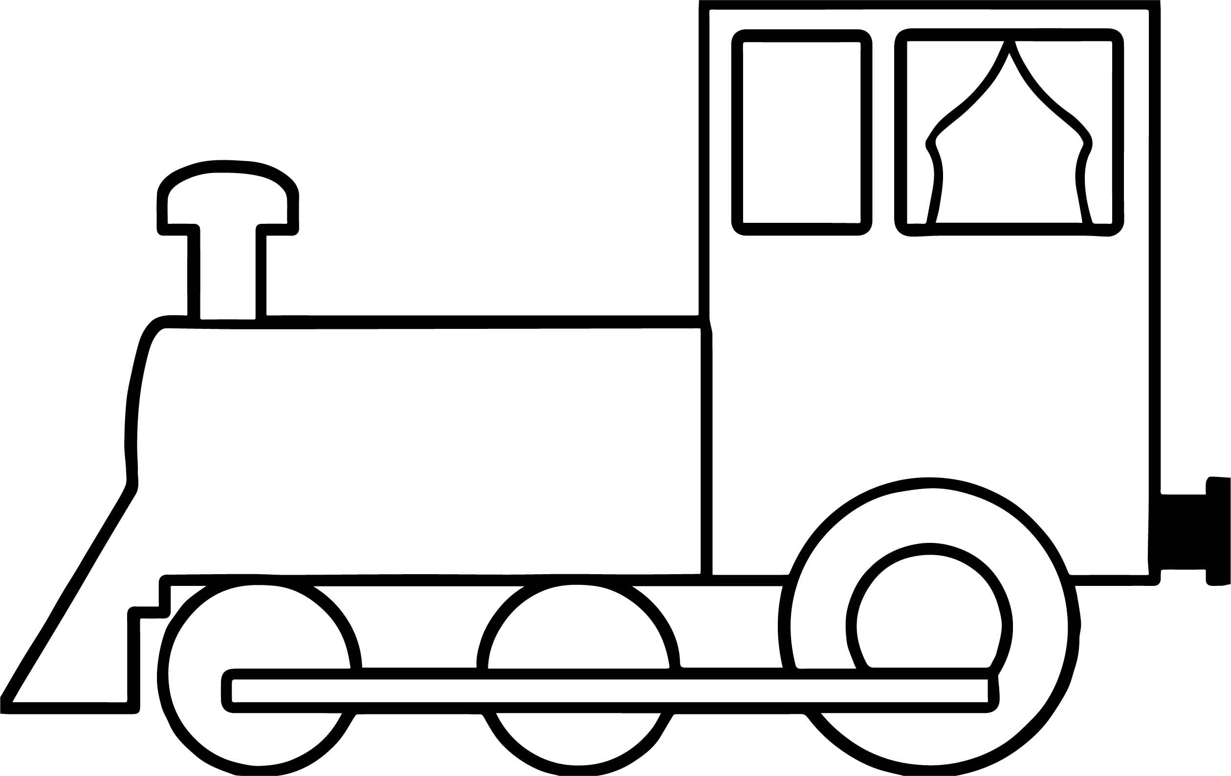 2518x1588 Simple Train Coloring Page Wecoloringpage