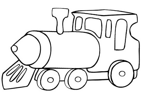 600x425 Simple Train Coloring Pages