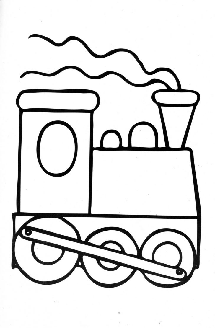 728x1111 Simple Train Coloring Pages Engine Thomas The Page Educations