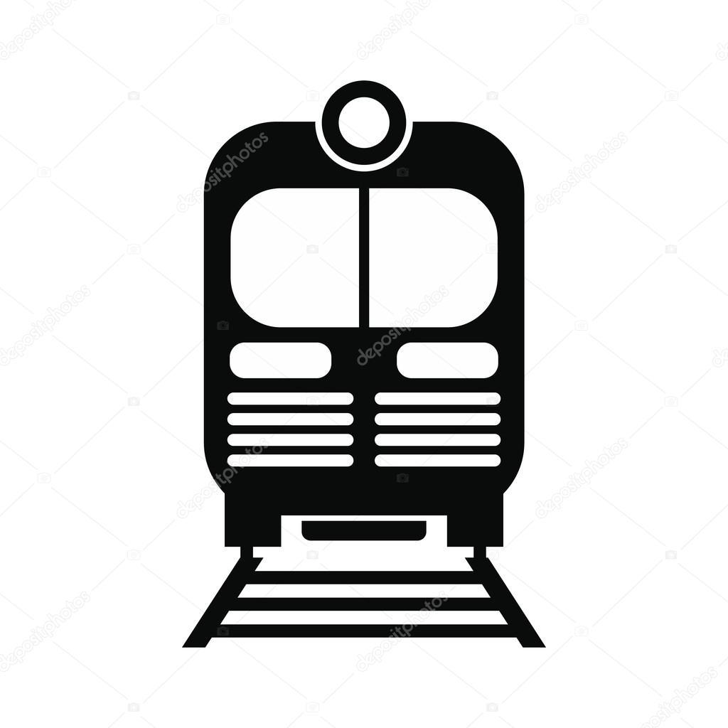 1024x1024 Train Black Simple Icon Stock Vector Juliarstudio
