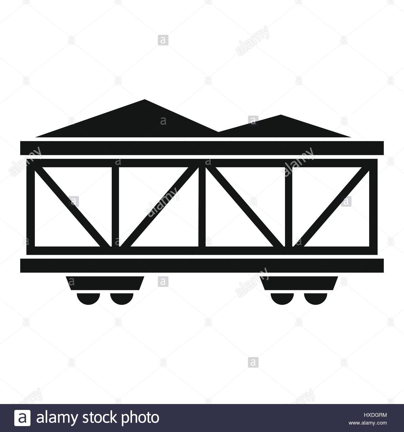 1300x1390 Train Cargo Wagon Icon, Simple Style Stock Vector Art