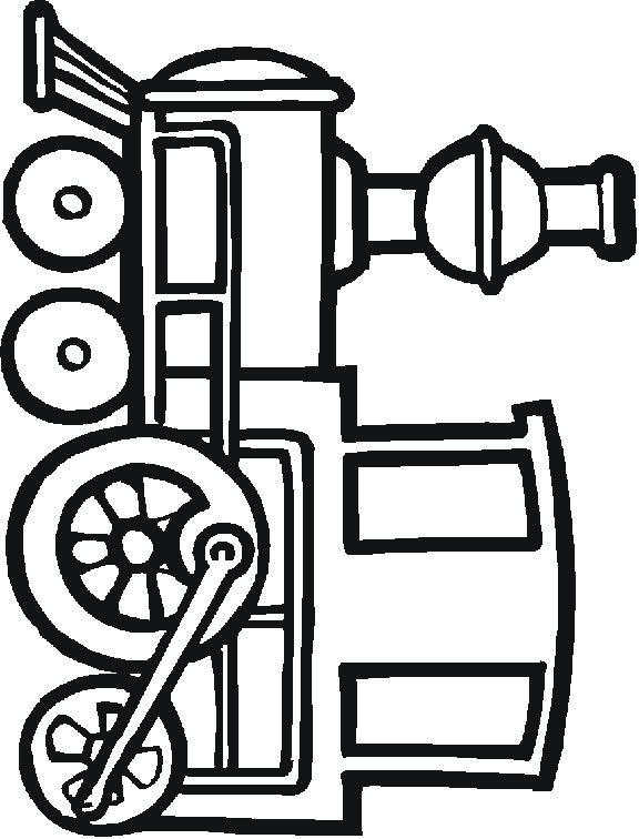576x756 Simple Train Clipart