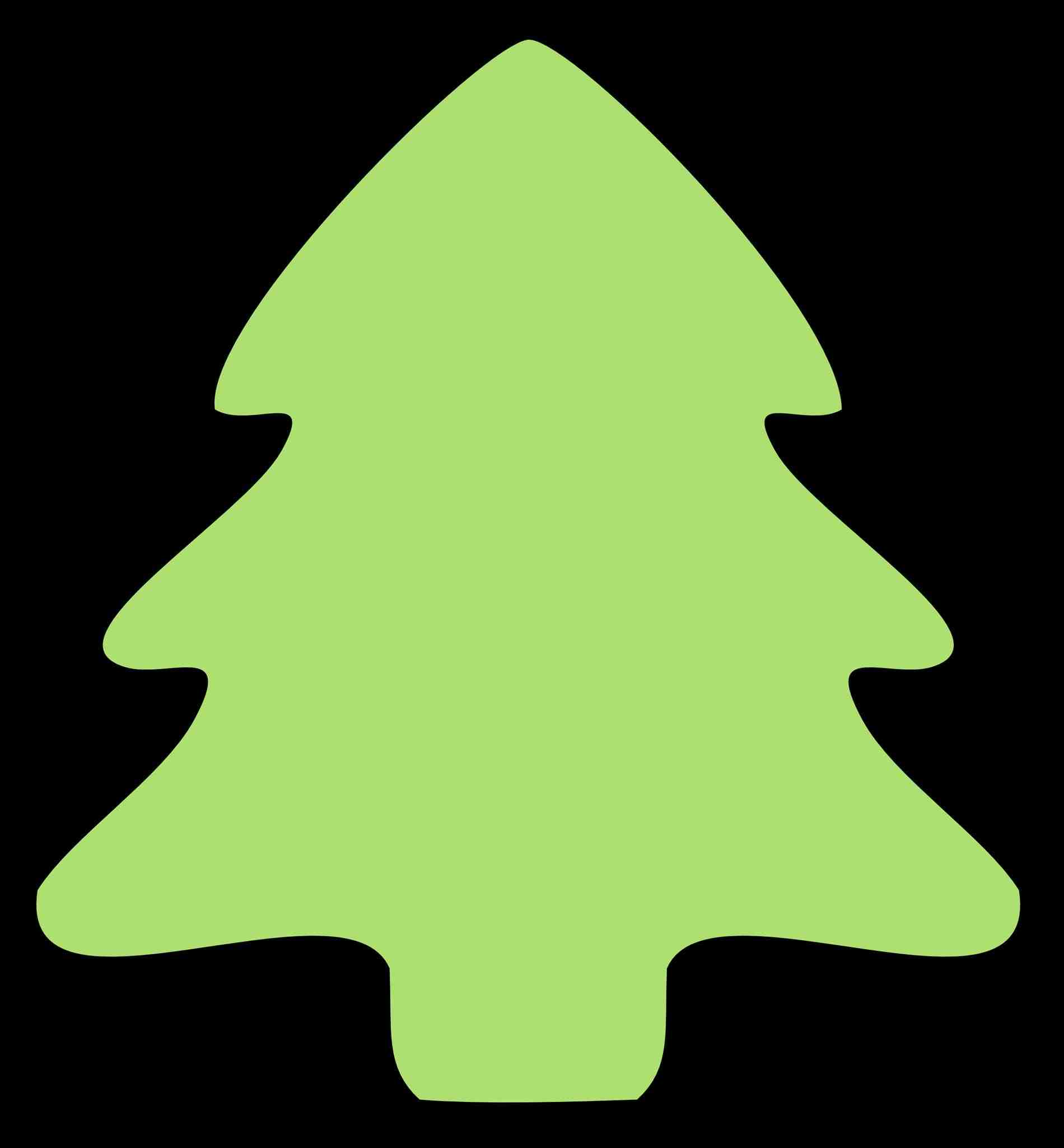 1900x2050 Free Simple Christmas Tree Clipart Images Barn Silhouette Clip Art