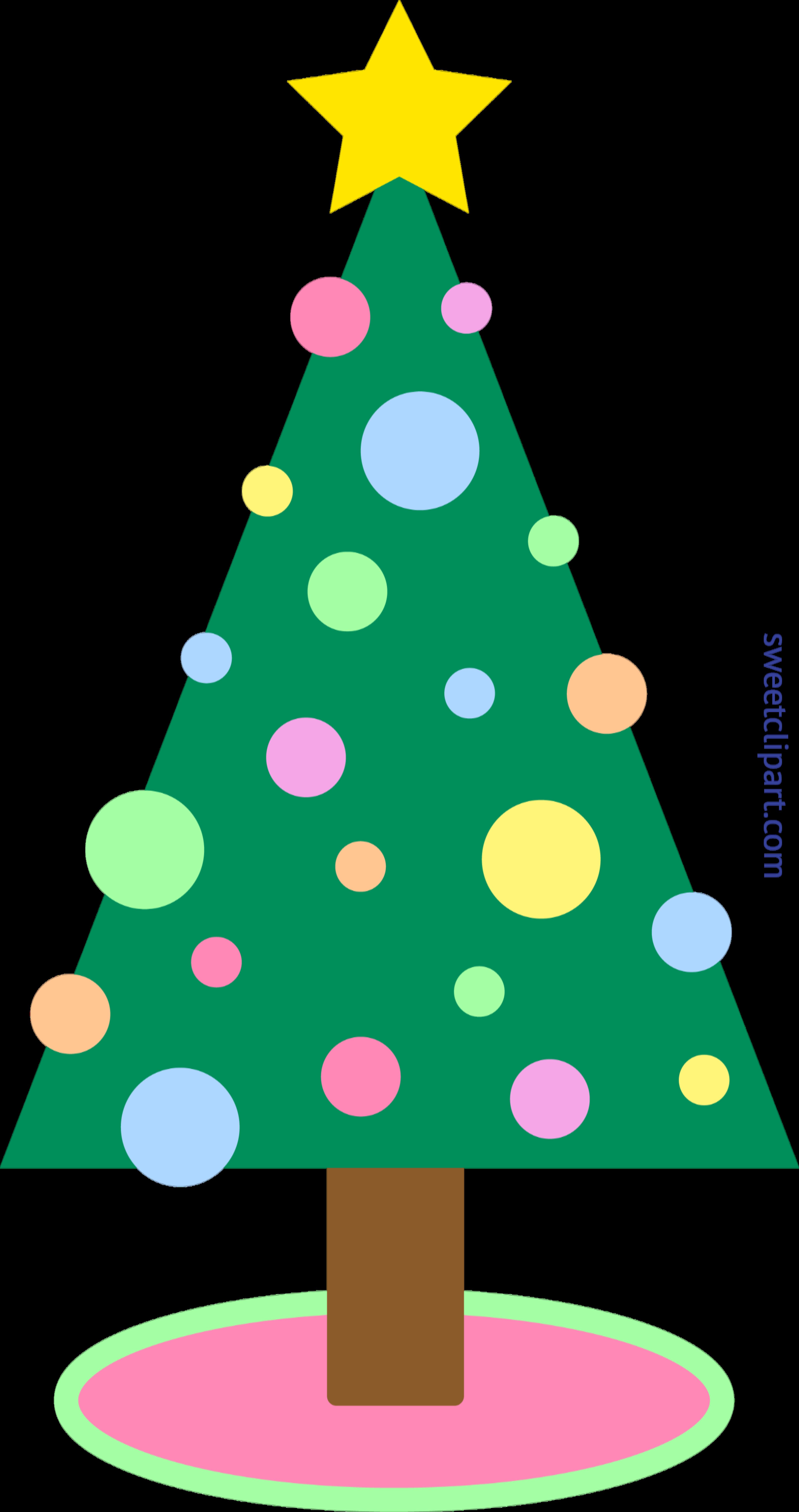 4150x7856 Holidays Christmas Tree Simple Pastel Clip Art