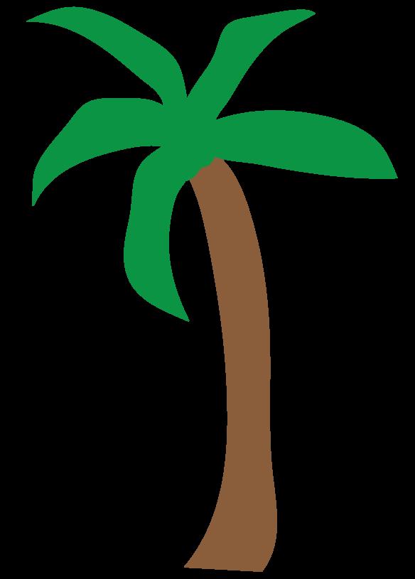 584x815 Simple Palm Tree Clip Art