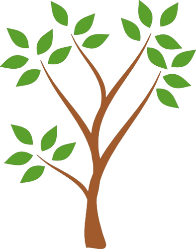 394x500 Simple Tree Clipart