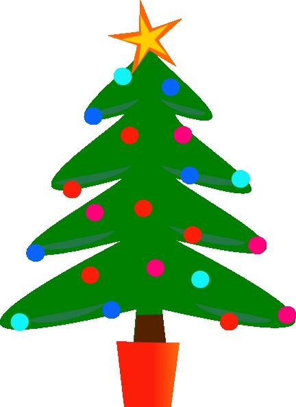 432x594 Simple Christmas Tree Clip Art