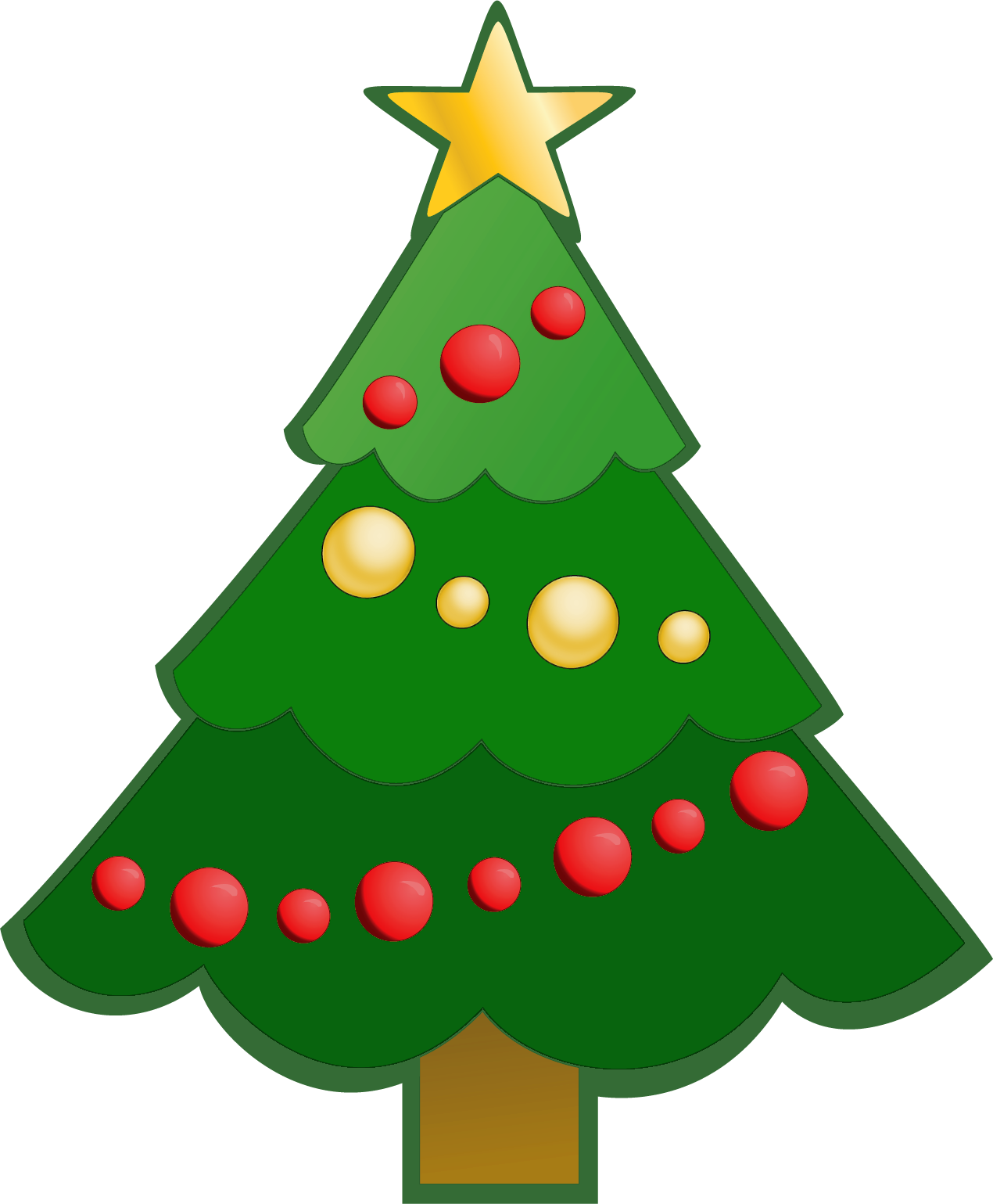 1270x1539 Simple Christmas Tree Clipart Free Images