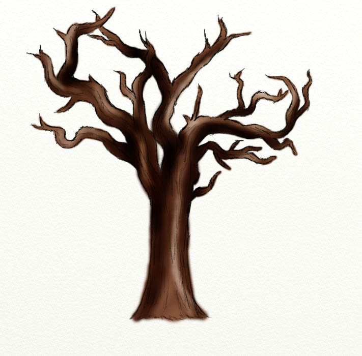 711x700 How To Draw A Dead Tree Feltmagnet
