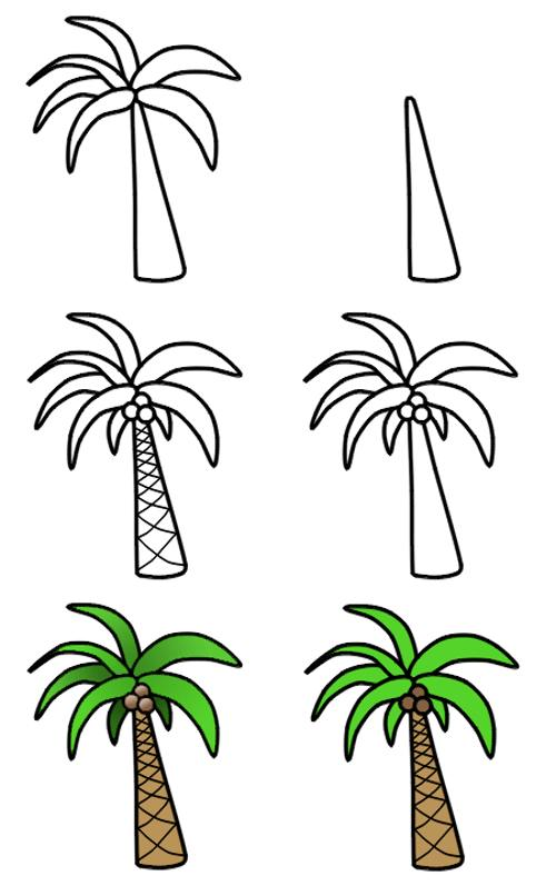 500x797 Palm Tree Drawing Simple Pictures Reference