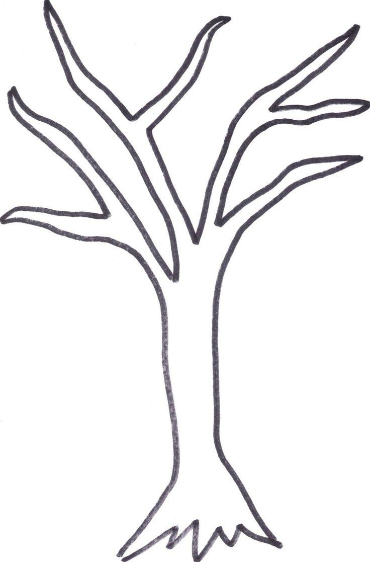 736x1117 Simple Tree Drawings
