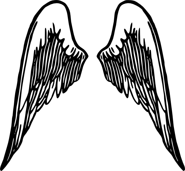 600x554 Simple Angel Wing Clipart