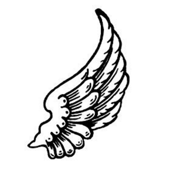 350x350 Simple Angel Wings Template Angel Wing Transparent Clip Art Image