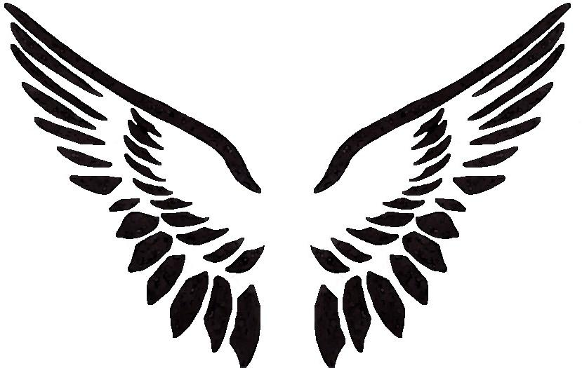 829x525 Tatto Angel Wing Clipart