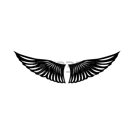 450x450 Bird Wings Icon In Simple Style On A White Background Vector