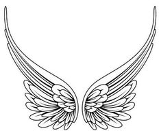 235x195 Simple Angel Wings Tattoo