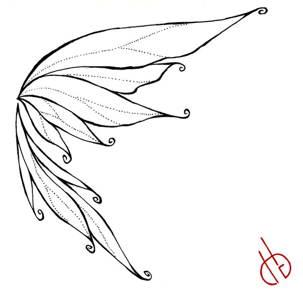 600x585 Fairy Wings Drawings Fairy Wing By ~ Bakero Ichiban Fairy