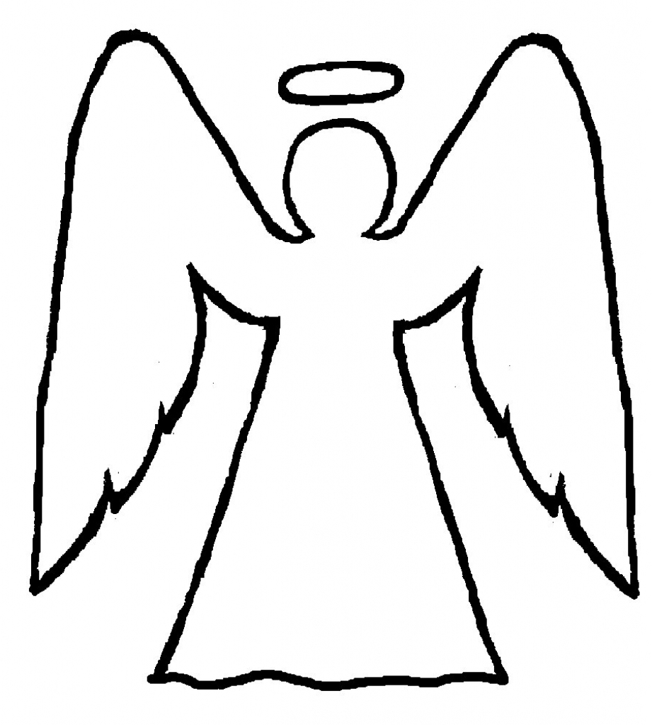 921x1024 Drawing Of An Angel Simple Sketch Of An Angel, A Female Figure