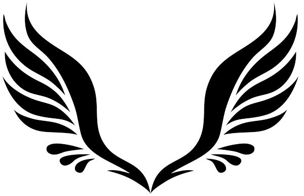 600x386 Dark Angel Clipart Simple Wing