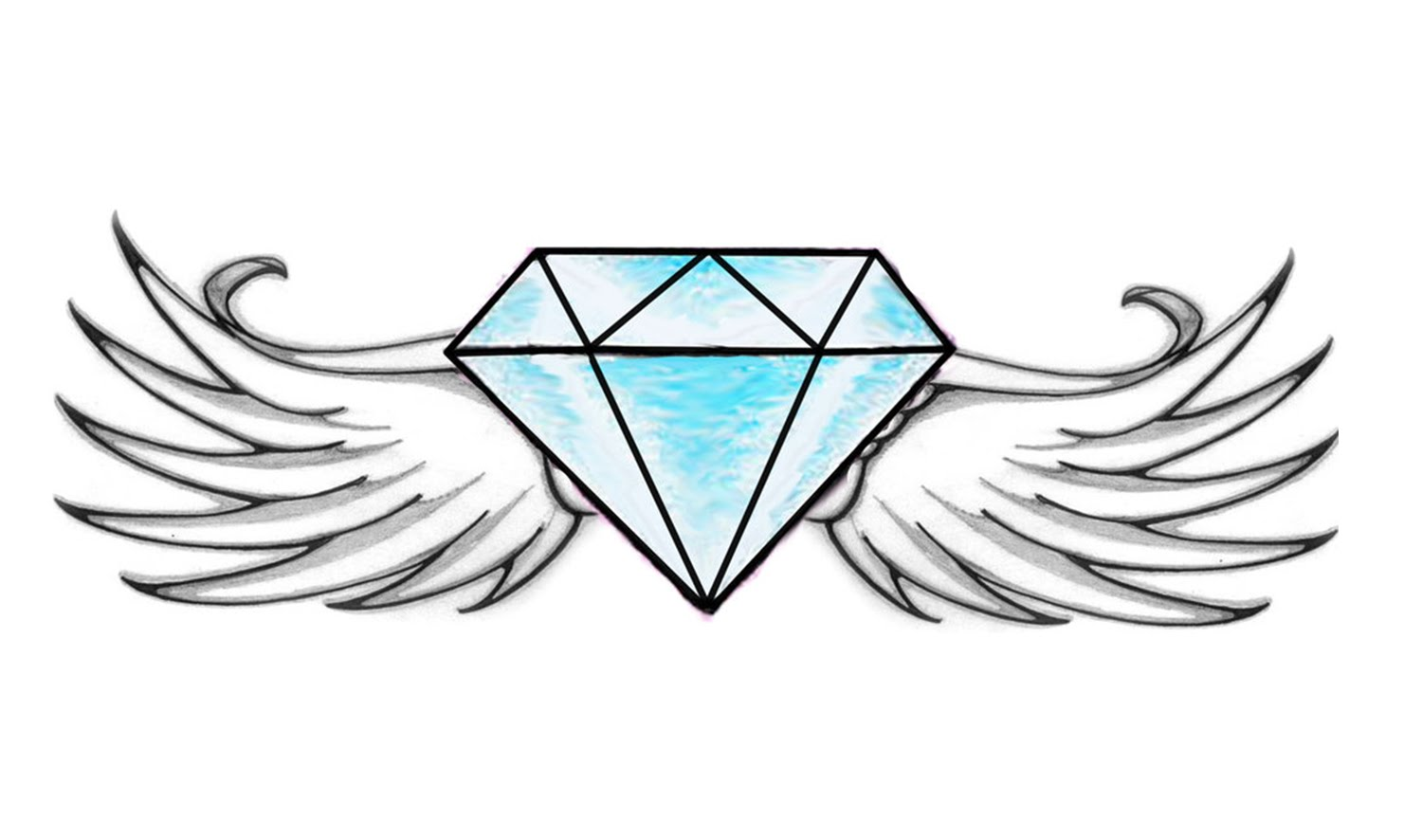 1500x886 How To Draw A Diamond With Wings (Easy)