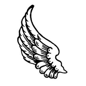 350x350 Simple Wings Clipart