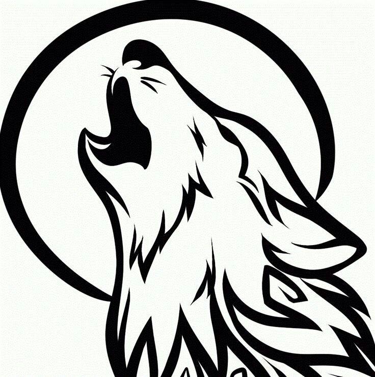 Simple Wolf Drawings