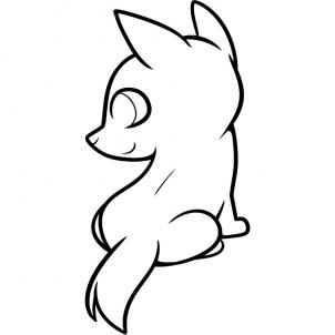 302x302 Wolf Clipart Easy