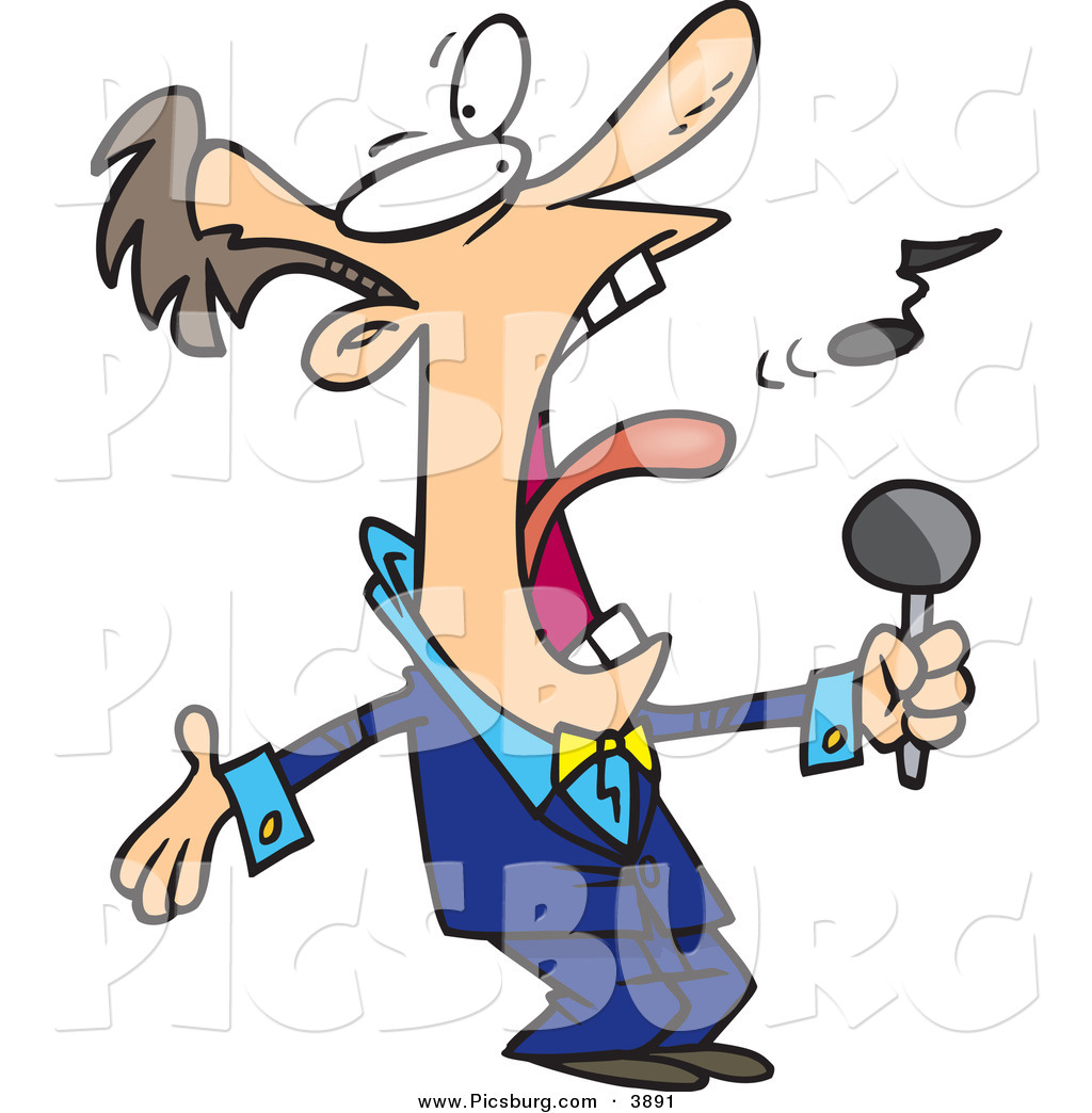 1024x1044 Clip Art Of An Obnoxious Loud Man In A Blue Suit, Singing