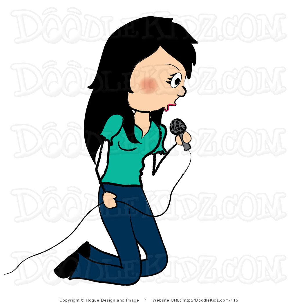 1024x1044 Singer Clipart Clip Art Illustration Of A Rocker Chick Singing By