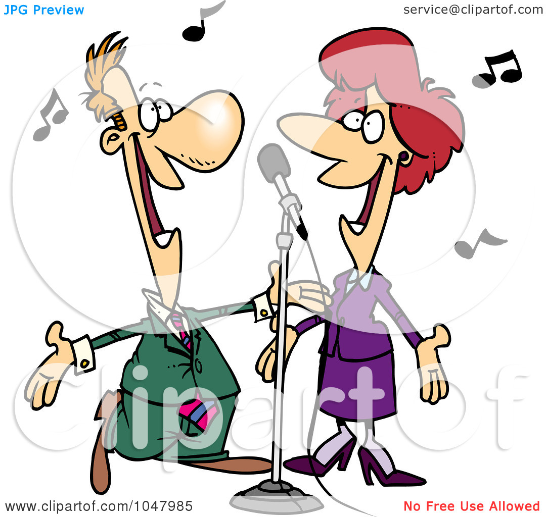 1080x1024 Cartoon Singer Clipart