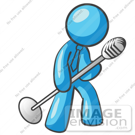 450x450 Cliprt Graphic Of Sky Blue Guy Character Singing