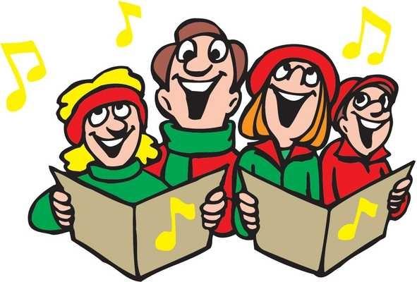 591x400 Kids Signing Christmas Carols Clip Art
