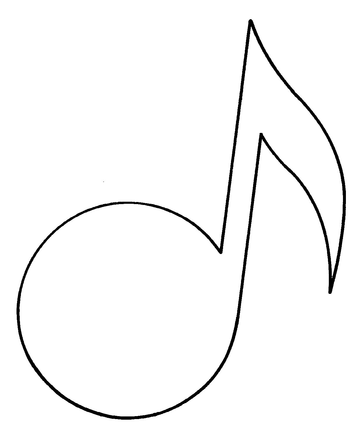 1232x1456 Eighth Note Outline