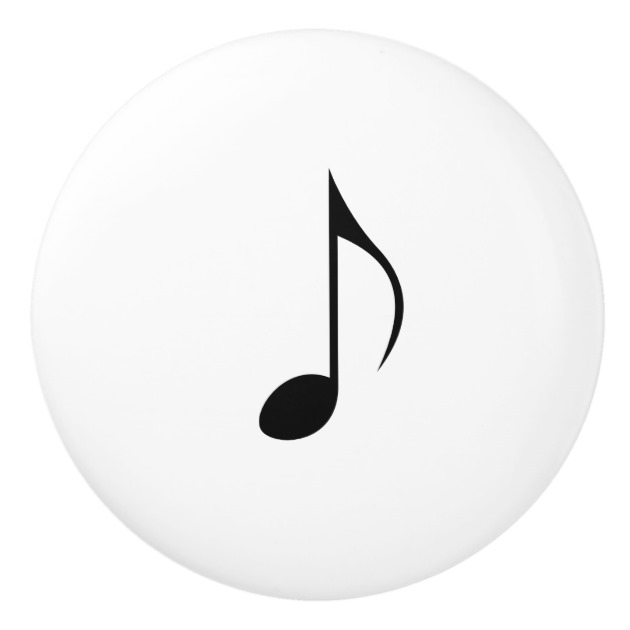 630x630 Music Notation Single Eighth Note Or Quaver Ceramic Knob
