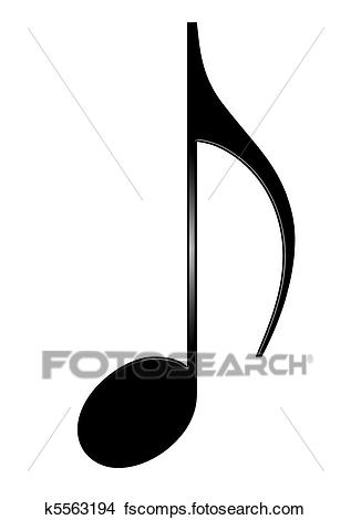 317x470 Stock Photo Of Musical Eighth Note Isolated On White Background