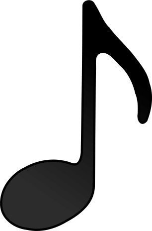 306x464 Eighth Note (Stem Facing Up) Free Vector In Open Office Drawing