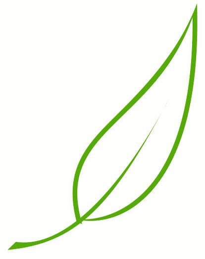 414x524 Single Leaf Clip Art