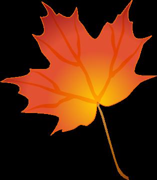 314x360 Single Leaf Clipart