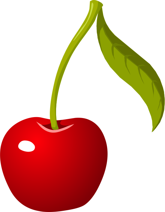 550x706 Single Cherry Clipart