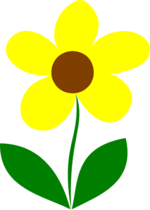 213x299 Yellow Flower Stem Clip Art