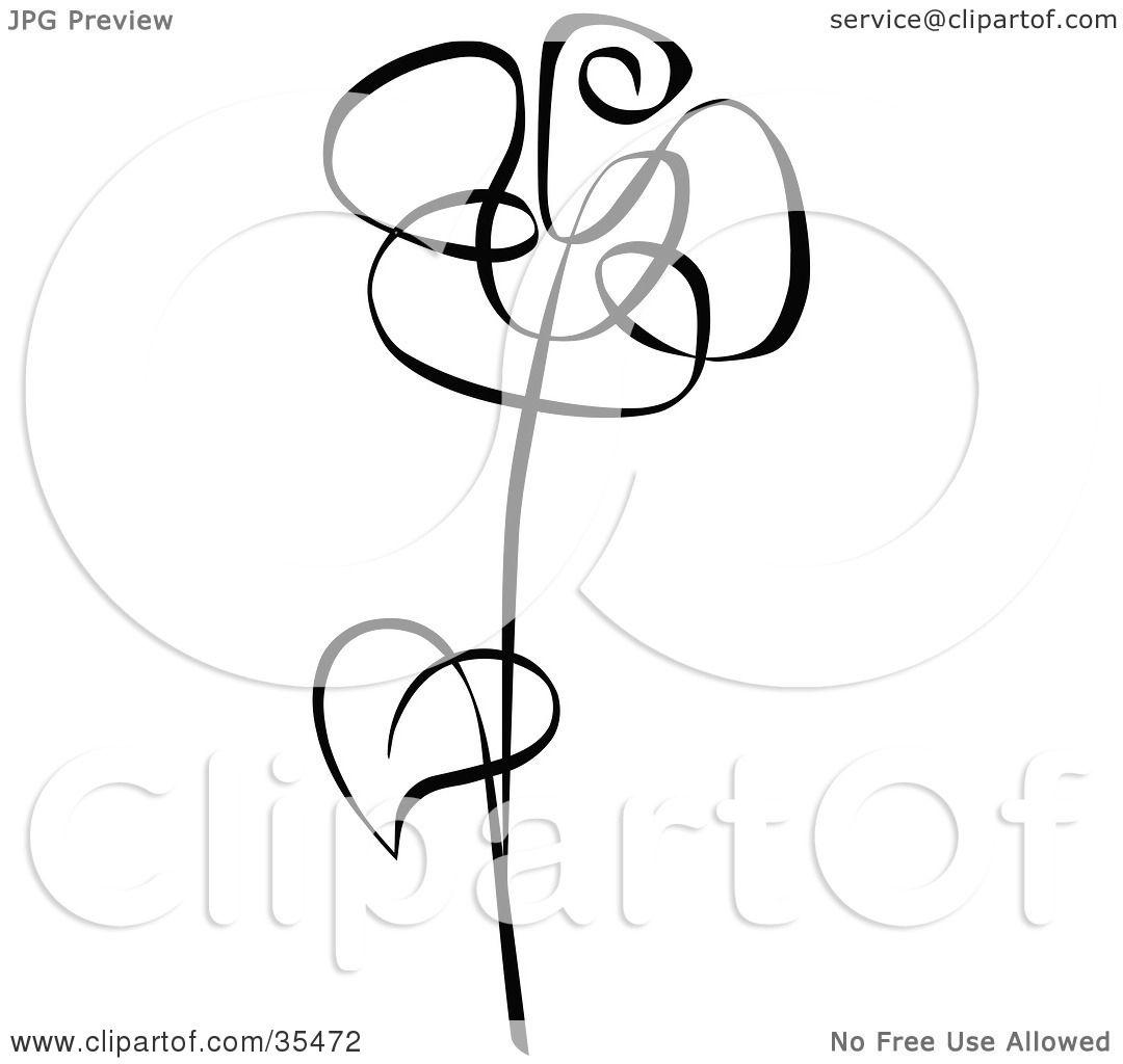 1080x1024 Hoontoidly Single Black Rose Clip Art Images