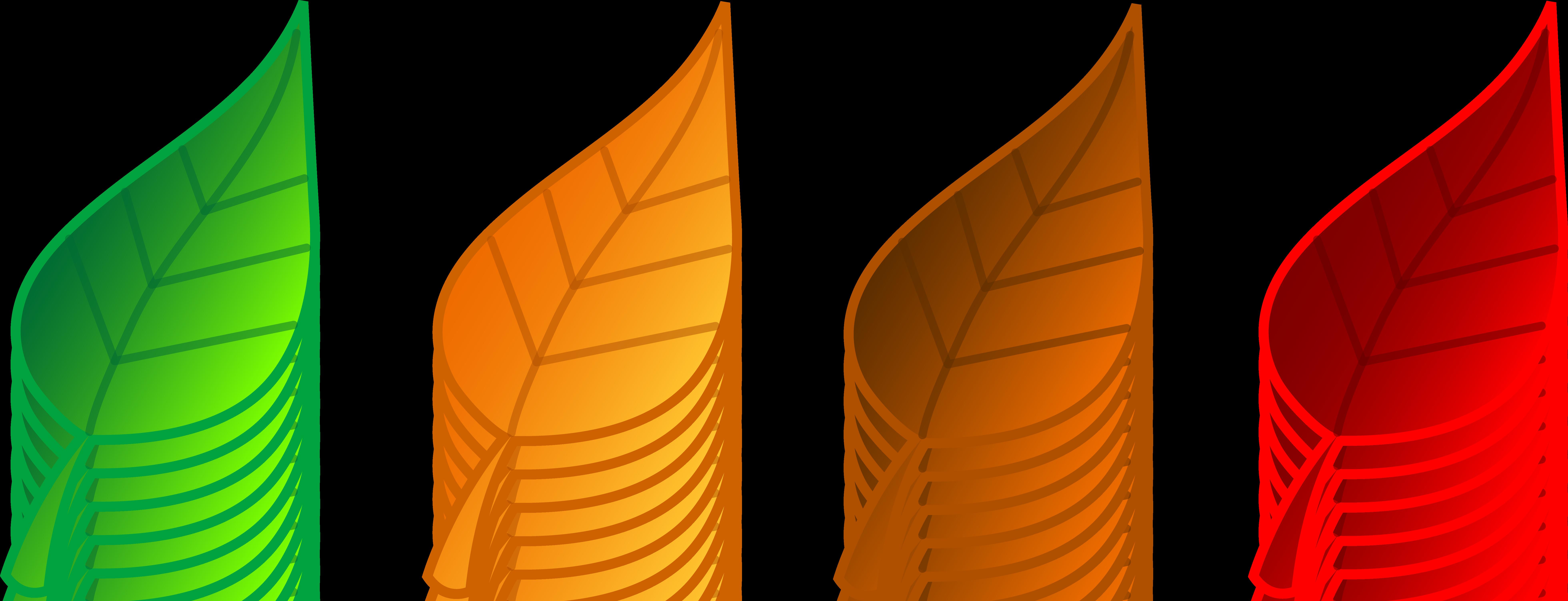 7840x3006 Fall Leaf Clip Art 4