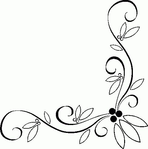 490x491 Scroll Clipart Single Line Border