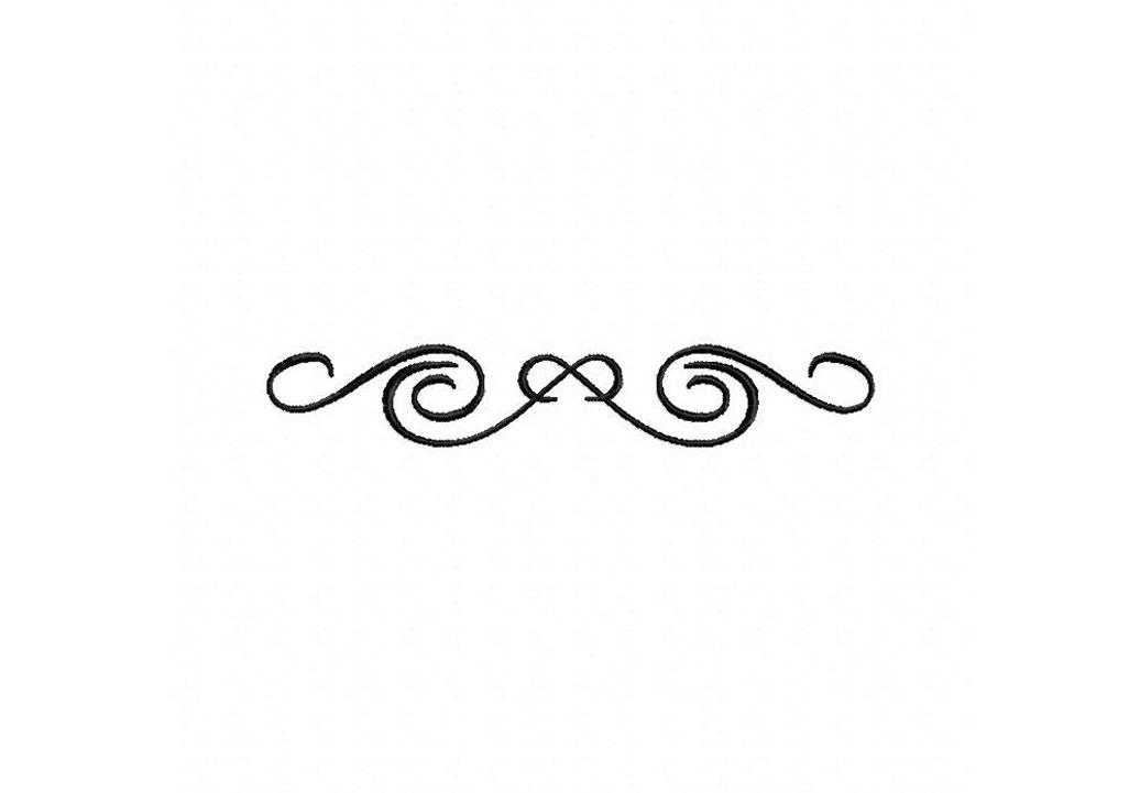1036x721 Decorative Lines Large Clipart