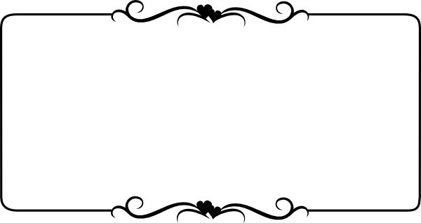 600x318 Ornamental Clipart Single Line Border
