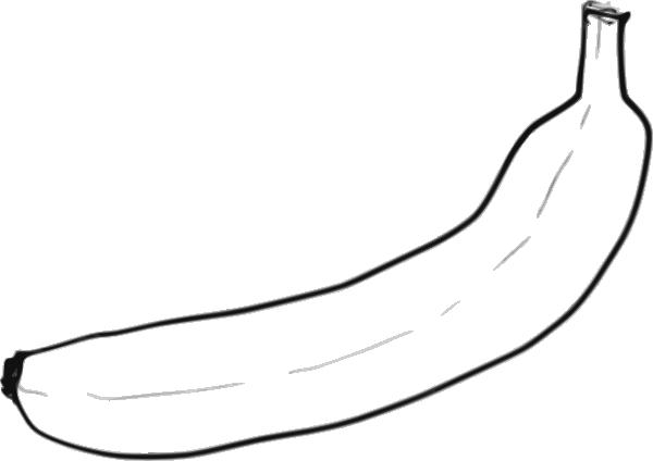 600x424 Single Line Art Banana Png, Svg Clip Art For Web